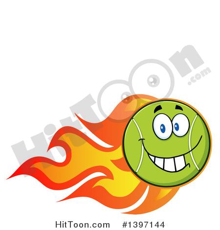 450x470 Tennis Ball Character Clipart