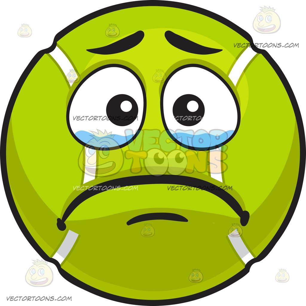 1024x1024 A Crying Tennis Ball Cartoon Clipart