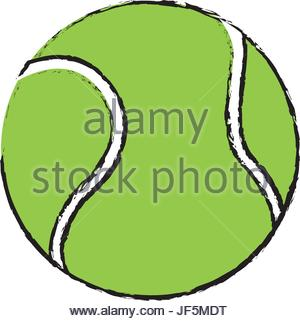 300x321 drawing tennis ball sport competition element Stock Vector Art