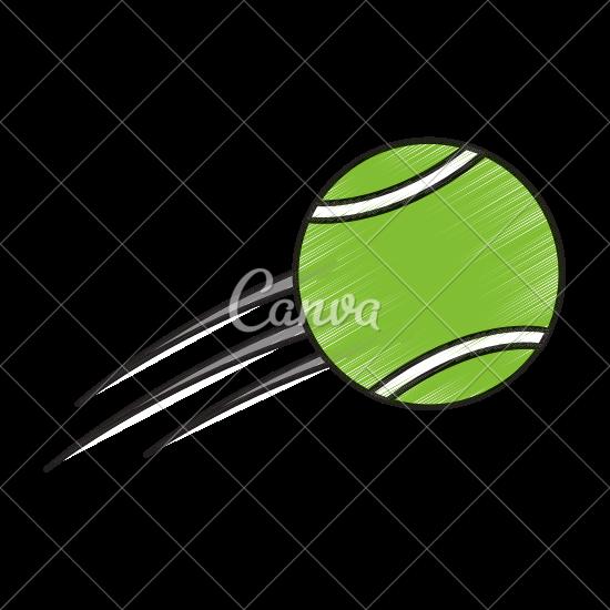 550x550 Flying Tennis Ball