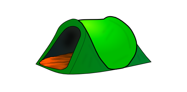 600x296 Tent Clipart