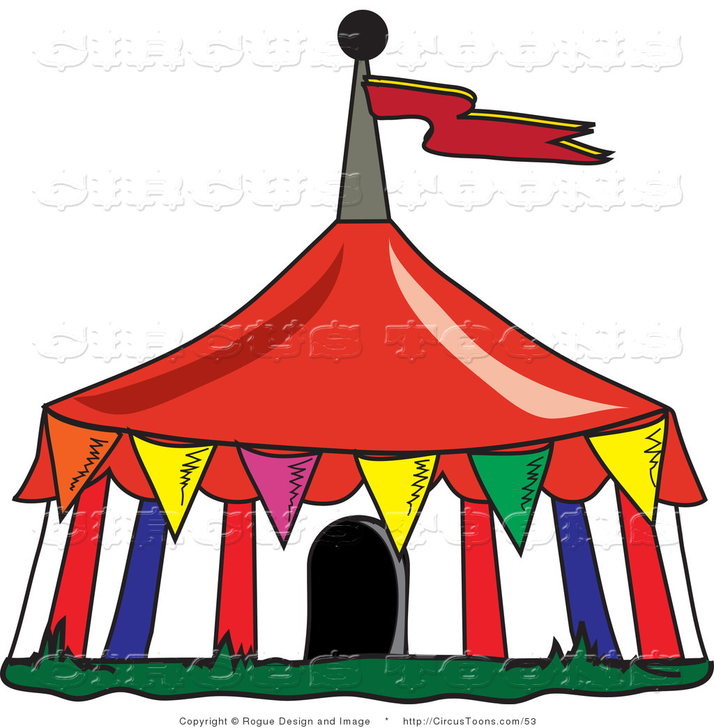 1024x1044 Circus Clipart Of A Colorful Triangular Flags Around A Big Top