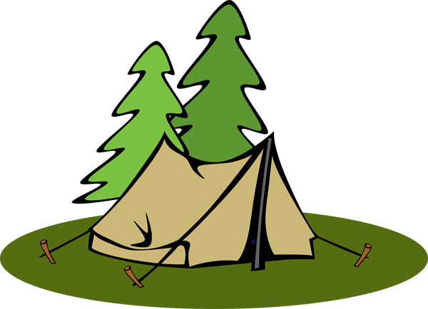 600x434 Tent Clip Art Brown Tents Clipartcow