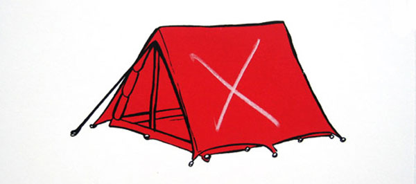 600x266 Art Threat Yuri's Red Tent Helps The Homeless