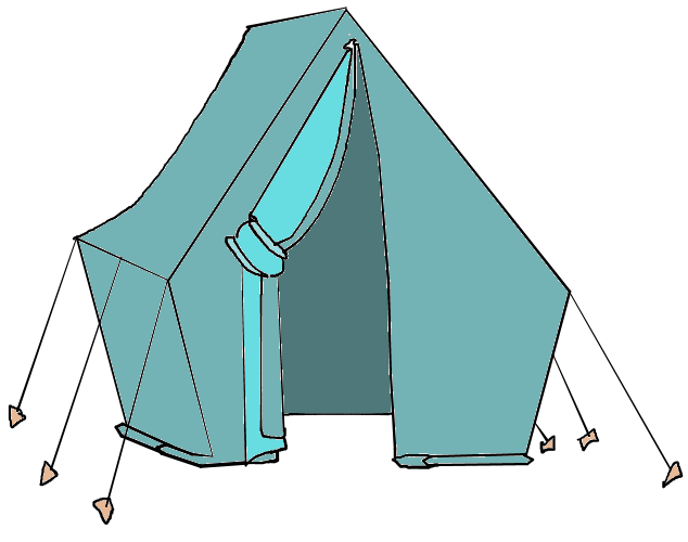 634x500 Camping Clipart Free Tent
