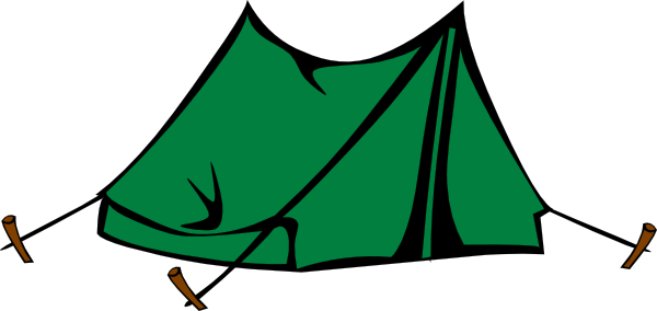 600x284 Camping Clipart Tent