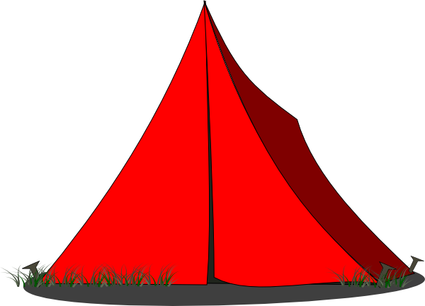 600x432 Free Illustration Tent Camping Red Clip Art Image