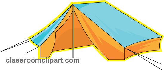 550x235 Camping Tent Clipart