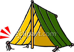 300x214 Camping Tent Royalty Free Clipart Picture