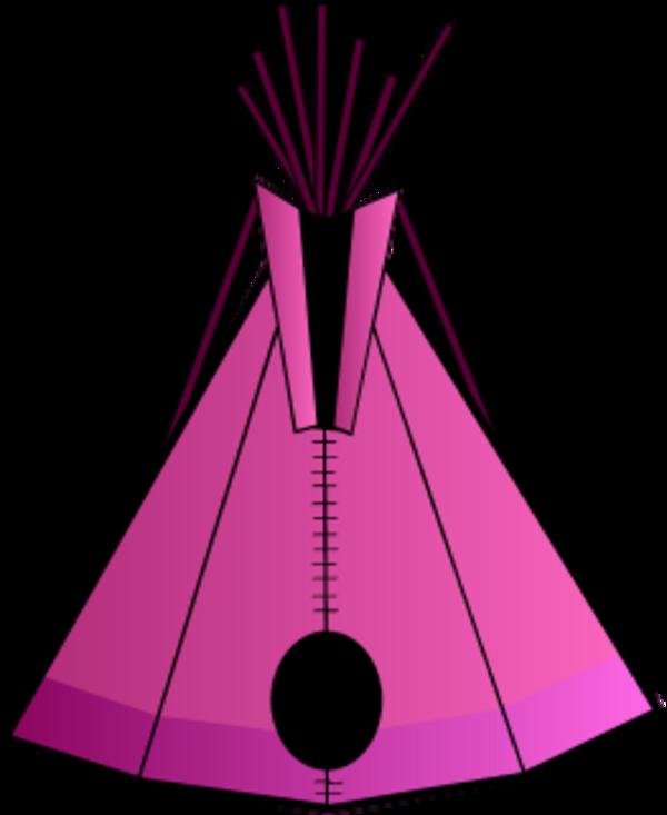 600x733 Indian Tent Vector Clip Art