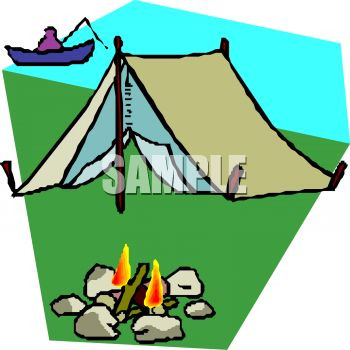 350x350 Simple Tent On The Bank Of A Lake