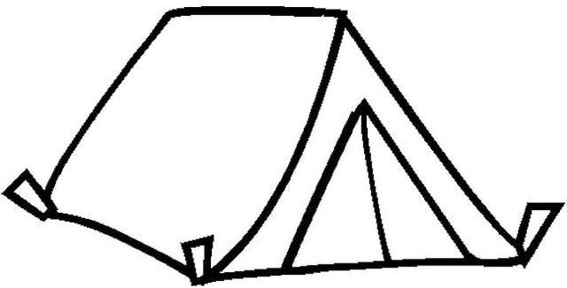 640x325 Tent Clipart Outline