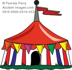 300x293 Art Illustration Of A Circus Tent