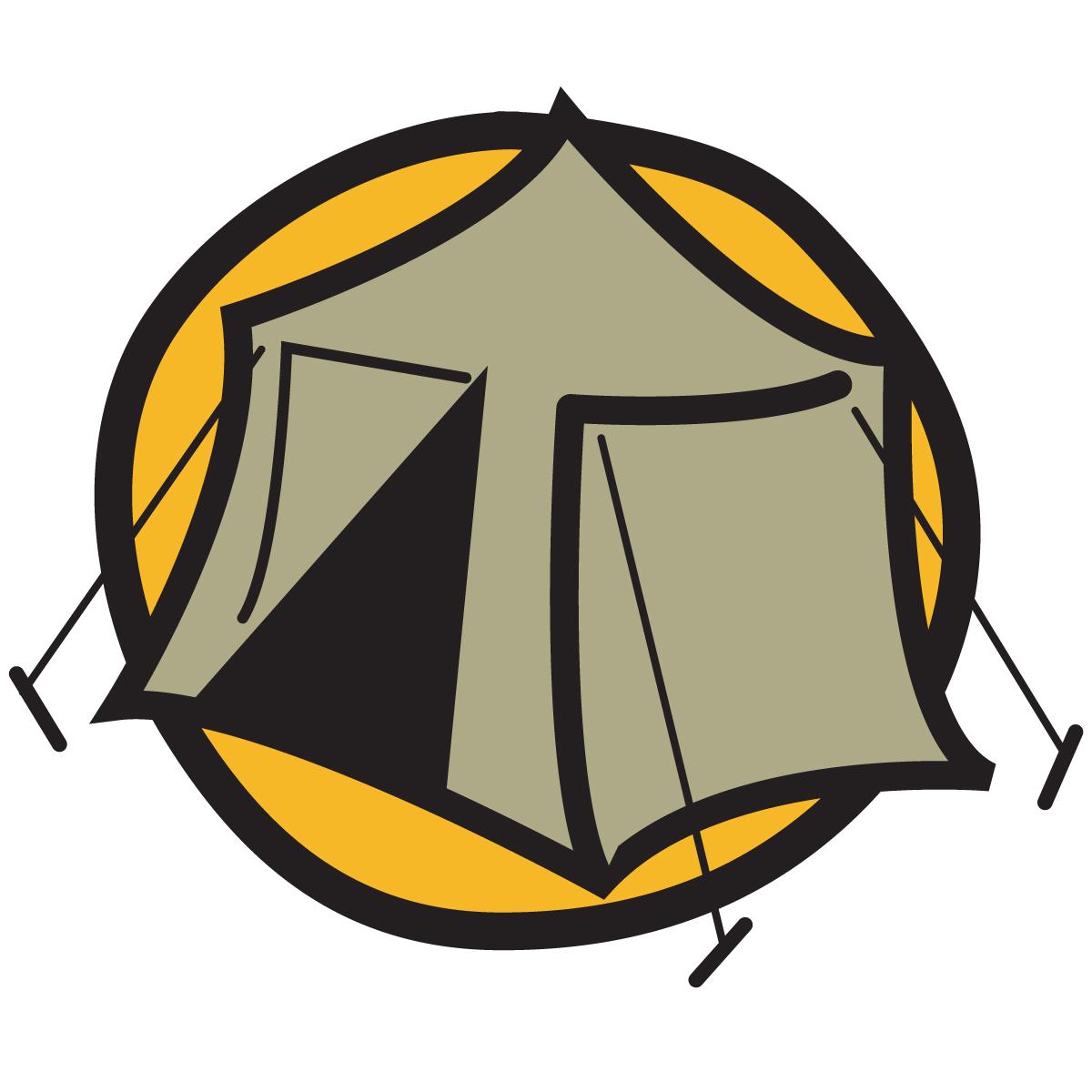 1200x1200 Campfire Tent Clip Art Clipart Image