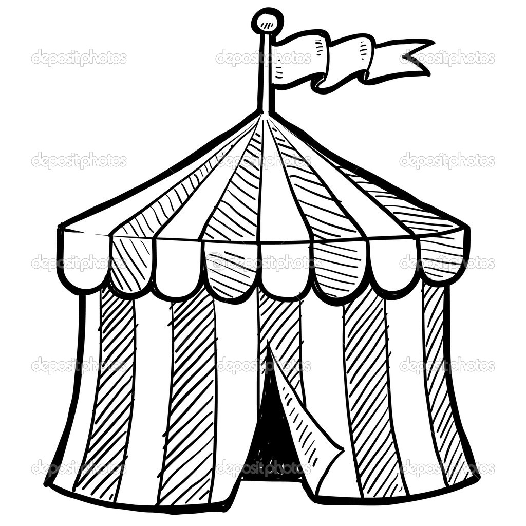 1024x1024 Circus Tent Clip Art Black And White Tent Idea
