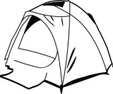 160x133 Campfire Clipart Black And White Clipart Panda