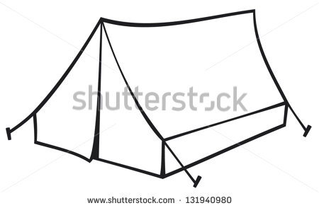 450x294 Camping Tent Black And White Clipart