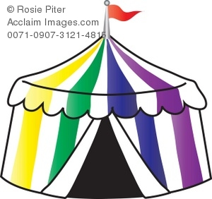 300x282 Clip Art Illustration Of A Circus Tent