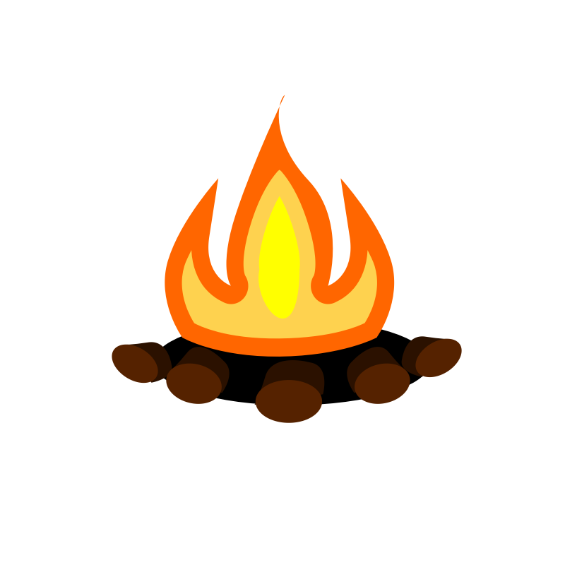 800x800 Bonfire Clipart Tent