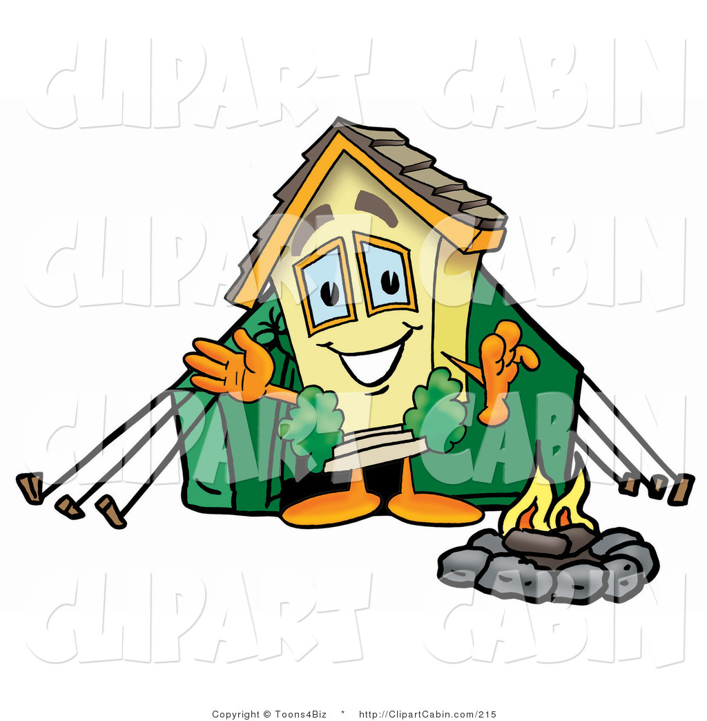 1024x1044 Cartoon Clip Art Of A Yellow Home Mascot Cartoon Character Camping