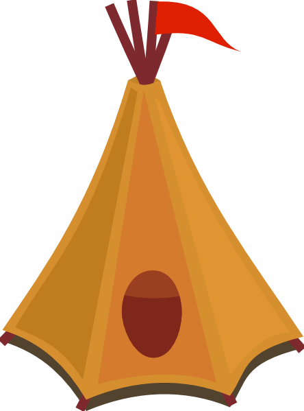 444x599 Cartoon Tipi Tent With Red Flag Clip Art Free Vector 4vector