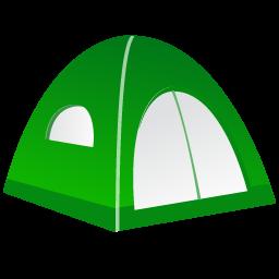 256x256 Tent Icon Fishing Equipment Iconset Dapino