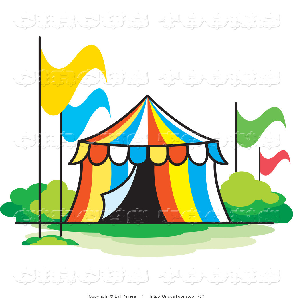 1024x1044 Circus Clipart Of A Colorful Striped Circus Tent With Four
