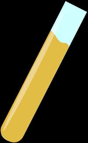303x494 Science Test Tube With Orange Liquid Clip Art