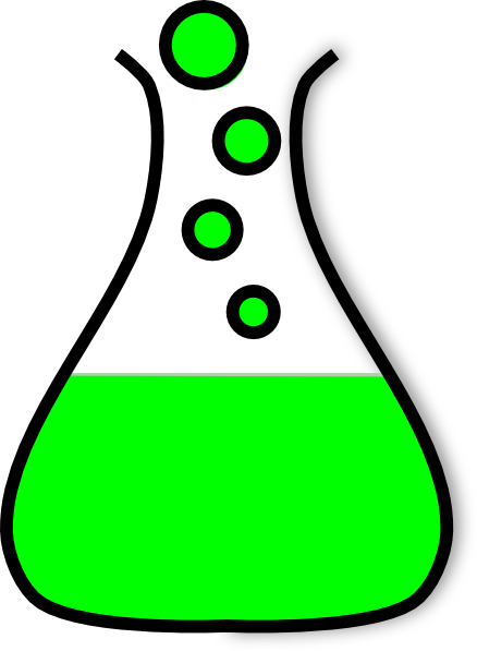 438x597 Green Clipart Test Tube