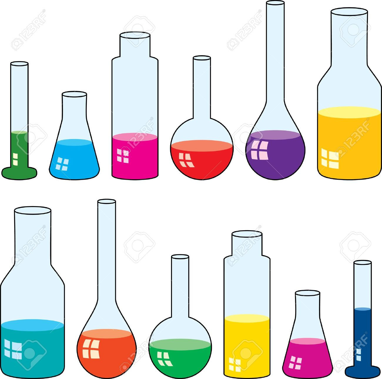 1300x1289 Clipart Of Laboratory Glassware Royalty Free Cliparts, Vectors