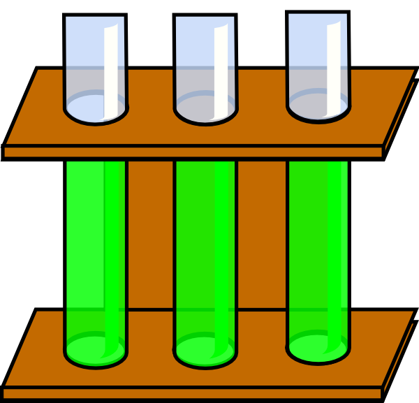 600x577 Green Test Tubes Clip Art