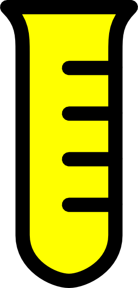282x588 Test Tube Yellow Clip Art