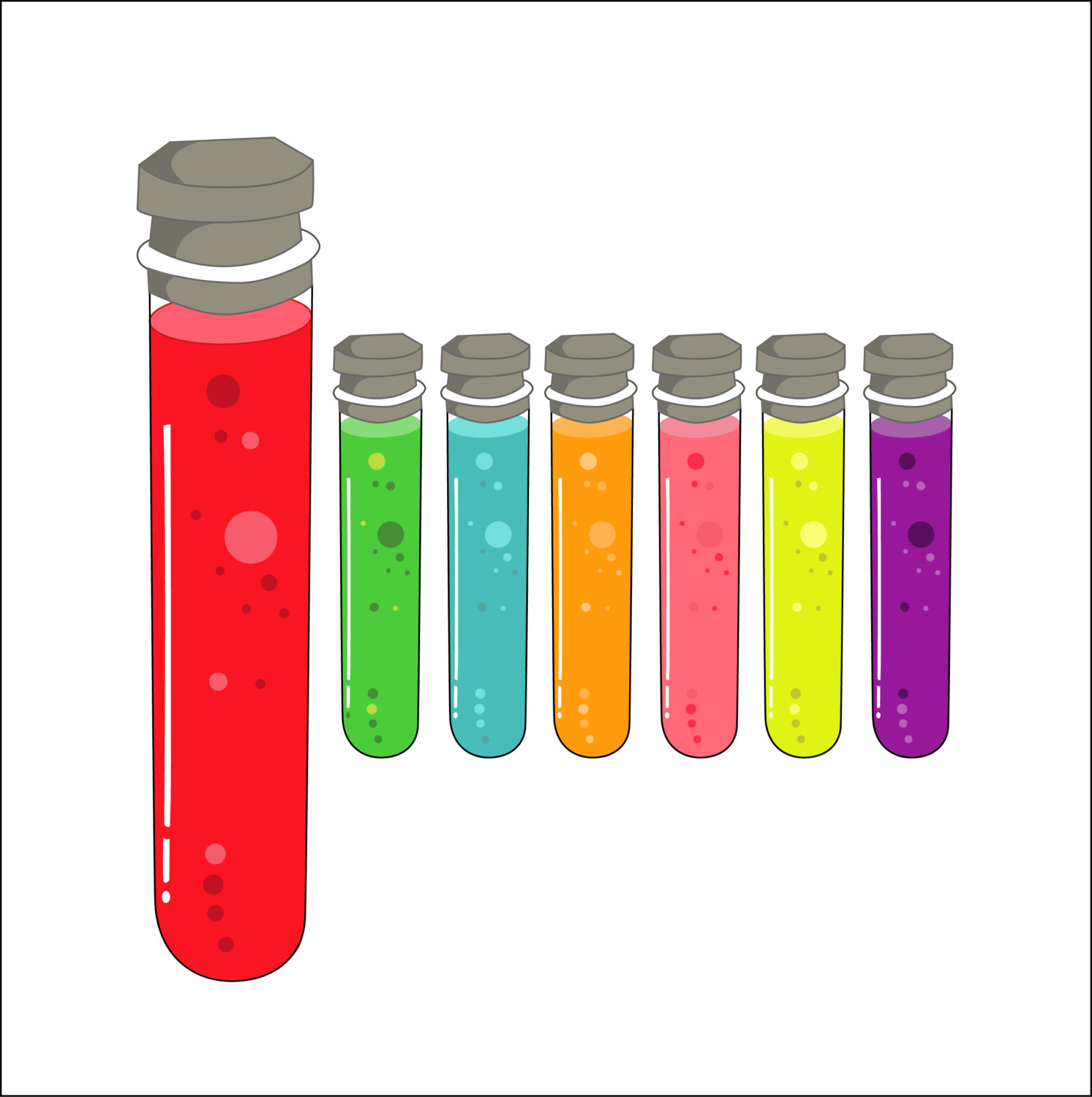 1493x1500 Test Tube Clipart, Test Tubes Clipart, Science Clipart, Magic