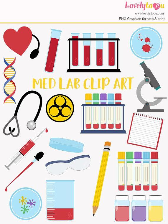 570x760 Medical Laboratory Clip Art Set Blood Testing Med Lab Lovelytocu