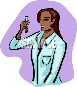 310x350 Picture Of A Nurse Looking At A Test Tube In A Vector Clip Art