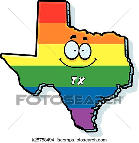 450x462 Clipart Of Cartoon Texas Gay Marriage K25758494