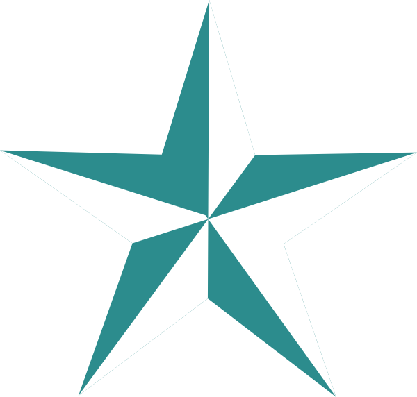 600x572 Texas Star In Teal Clip Art