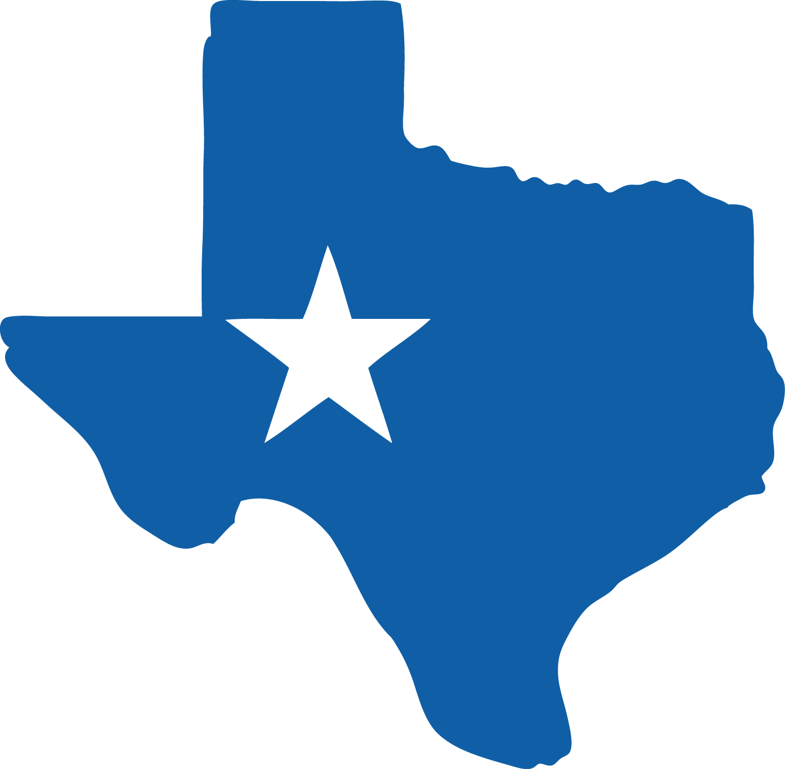 1530x1500 Blank Blue Texas State Clipart