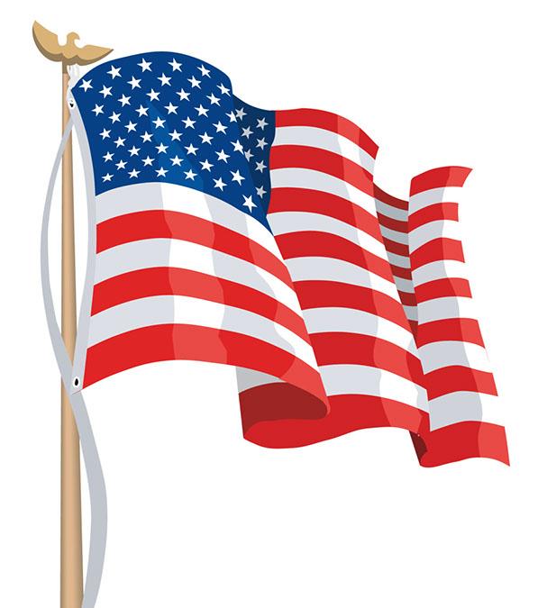 597x675 America Flag Clipart