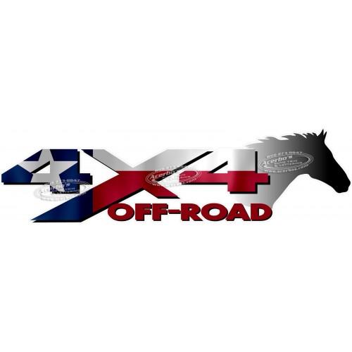 500x500 Off Road Texas Flag Horse Head Truck Decalsticker