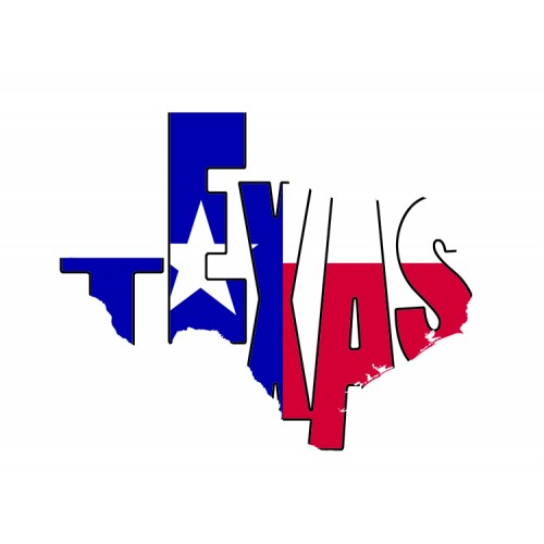 500x500 Texas Flag Typography