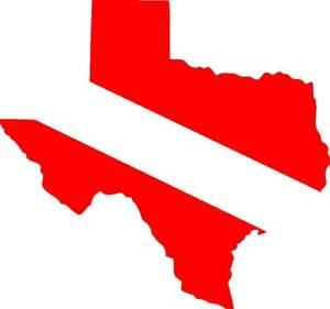 300x281 Texas State Diving Flag Scuba Dive Sticker,graphic Ebay