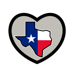 300x300 Texas State Flag Amp Map Royalty Free Stock Image