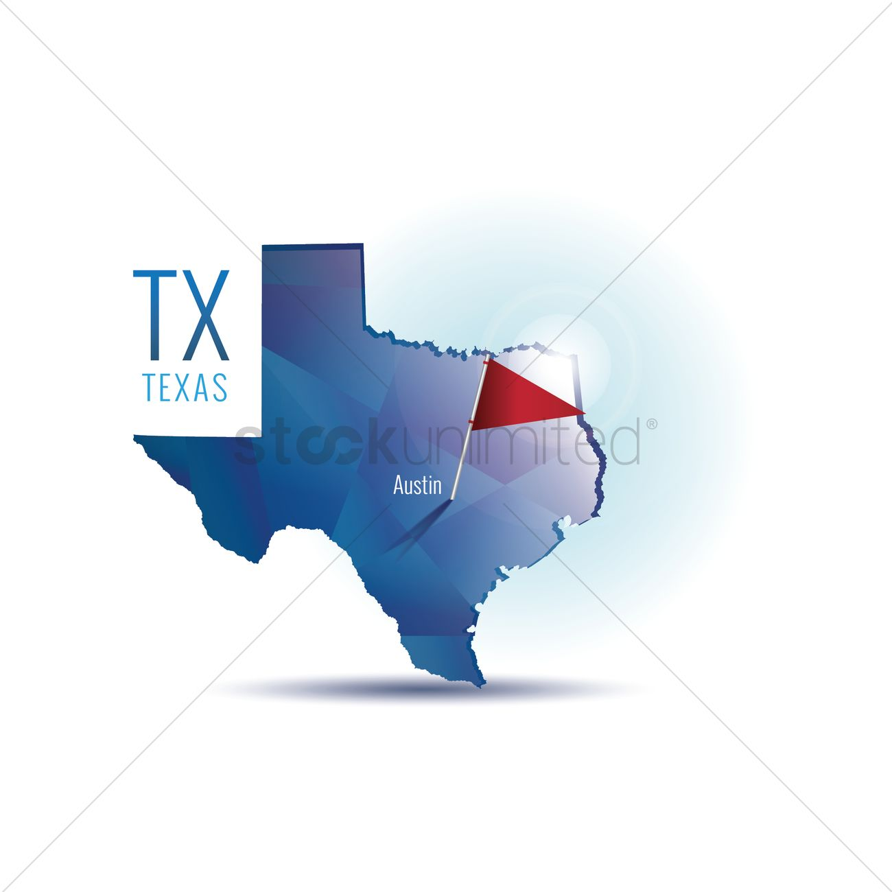 1300x1300 Texas Map With Capital City Vector Image