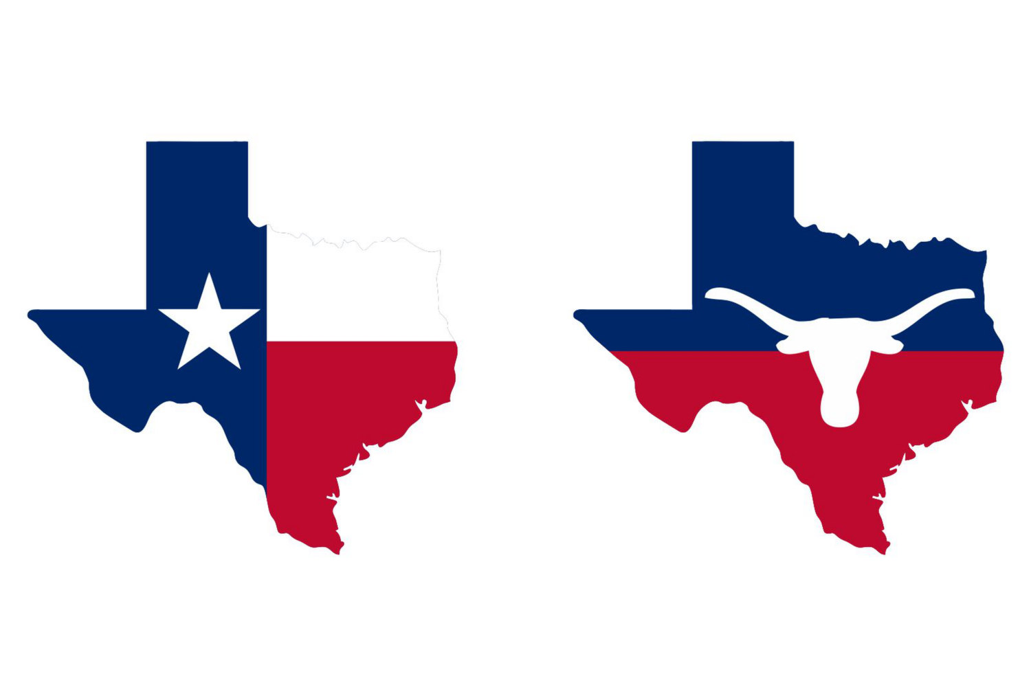 1500x1013 Texas State Map, Flag And Symbols Clipart Collection. Ai, Eps, Svg