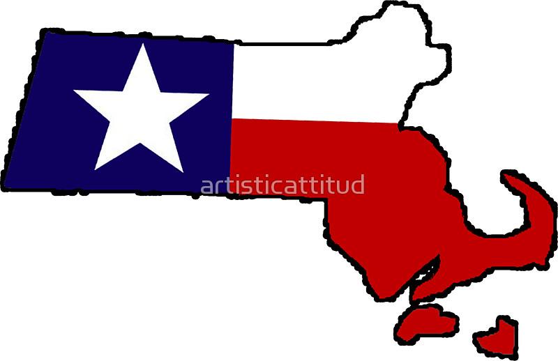 800x518 Texas Flag Massachusetts Outline Stickers By Artisticattitud