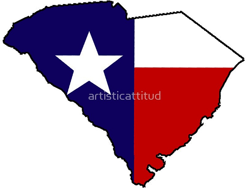 800x611 Texas Flag South Carolina Outline Stickers By Artisticattitud