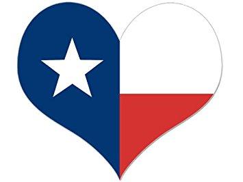 355x266 Heart Shaped Texas Flag Sticker Automotive