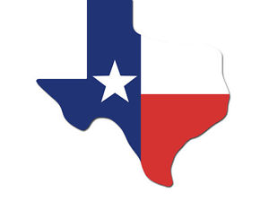 300x225 4x5 Inch Texas Shaped Flag Sticker