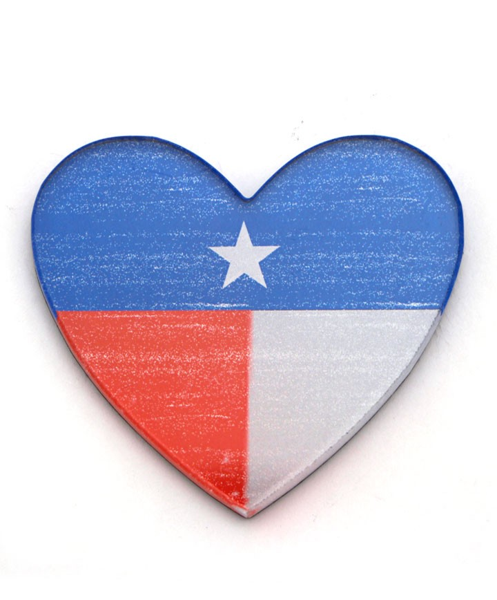720x868 Flag Heart Magnet
